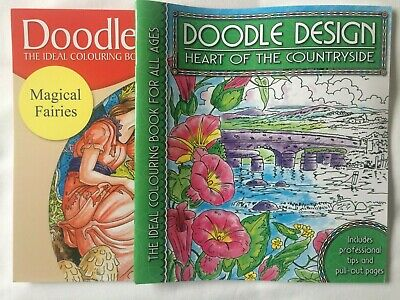 Brand New Adult Colouring Books X 10 - DOODLE DESIGN • 20£