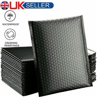 50x Padded Bubble Parcel Mailing Envelopes Pouch Postal Packaging Bags Black • 13.65£