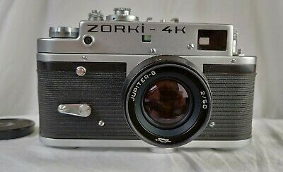 Vintage Zorki 4k Rangefinder Camera With Jupiter 8 2/50 Lens In Original Case • 17£