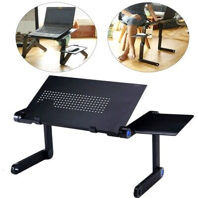 Laptop Cooling Stand Tray Holder Riser Computer Desk Table For Bed Sofa Folding • 16.59£