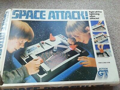Space Attack Game 1983 By ACTION GT - Complete & Working Toy Vintage Retro Fun • 12.99£