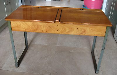 Vintage Wooden School Desk • 29.99£