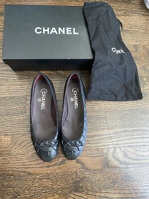 £494.88 • Buy Nib Authentic Chanel Quilted Ballerina Flat Black Size 37