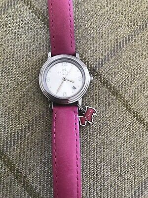 $31.65 • Buy Radley Watch Silver Faced Pink Leather Strap