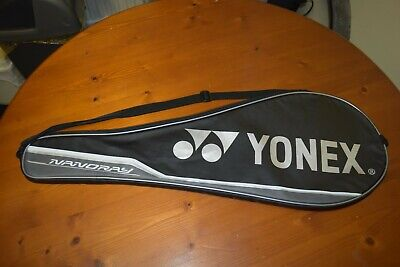 Yonex Nanoray Padded Badminton Full Cover Black/Grey With Zip & Carry Strap • 9£