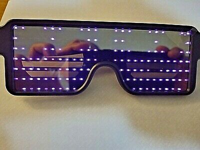 LED Glasses Light Up Flashing Sunglasses Eye Wear Nightclub Party ( Purple LED ) • 8.99£