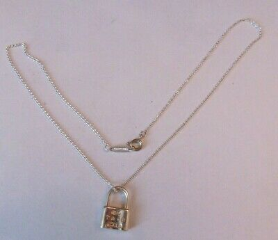 $52 • Buy Tiffany & Co. Sterling Silver 1837 Padlock Pendant & 16  Necklace