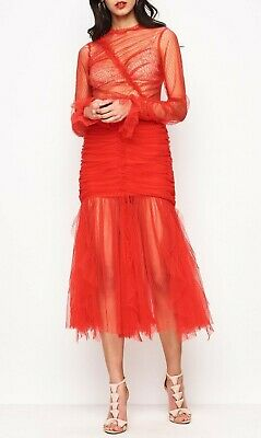 AU90 • Buy Alice Mccall, Red Tulle Midi Dress, Brand New, Sold Out, Size 8