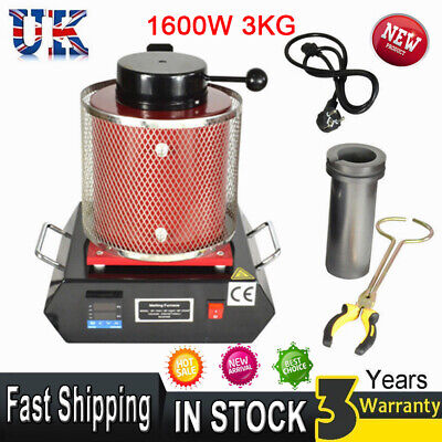 Electric Jewelry Melting Furnace 3KG Copper Gold Induction Melting Ovan Furnace • 239.85£
