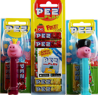 Set Of 2 PEZ Sweet Dispenser And Refills - Peppa Pig / George • 9.99£