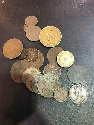 Bundle Of Old Foreign Coins (7) • 5£