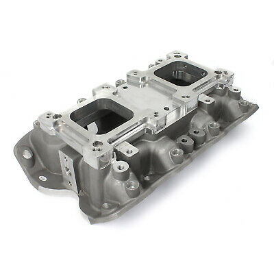 AU377.17 • Buy Ford 302 351C Cleveland 3V 4V W/Tongues Open Intake Manifold W/Dual Carb Adapter