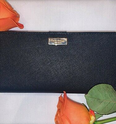 $ CDN90 • Buy Authentic Kate Spade Slim Bifold Wallet - Black