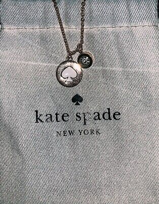 $ CDN70 • Buy Authentic Kate Spade Necklace W/ Original Pouch - Gold/white