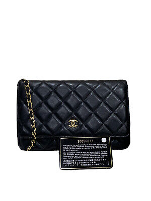 AU3800 • Buy Chanel Classic WOC Lambskin Black With Gold Hardware