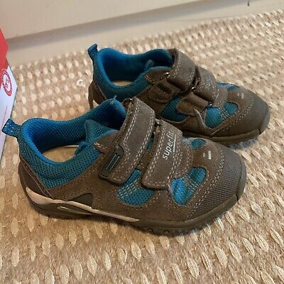 Childrens Superfit Grey And Blue Trainers Size 26 • 14£