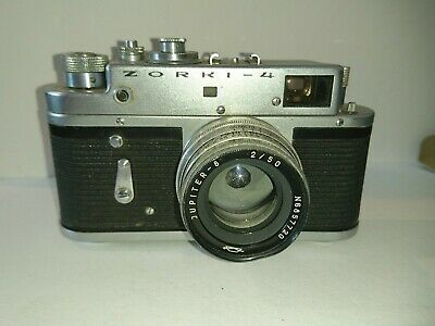 Vintage Zorki 4 Rangefinder Film Camera & Jupiter 8 2/50 Lens Spares Or Repair • 19.99£