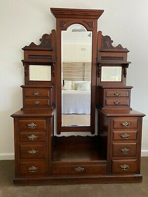AU102.50 • Buy Antique Dresser With Mirror
