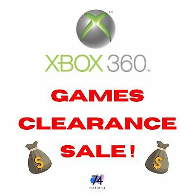 AU14 • Buy CLEARANCE SALE! XBox 360 Games | Priced To Sell! | NTSC-J & PAL Games