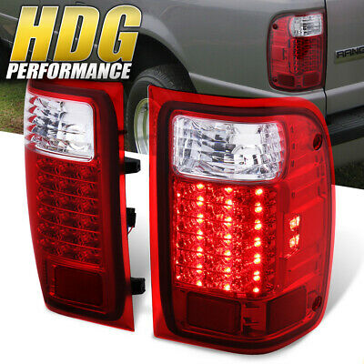 $104.50 • Buy 2001-2011 Ford Ranger Truck Replacement Red Lens LED Tail Lights Pair Lamps