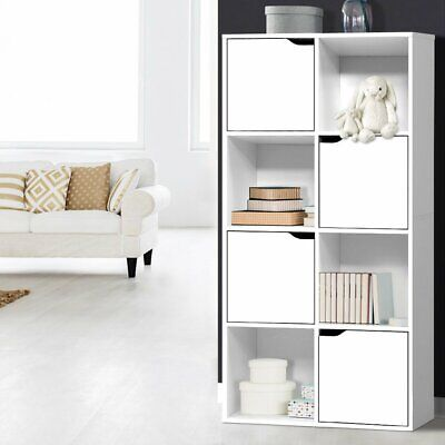 AU78.90 • Buy Artiss Display Shelf 8 Cube Storage 4 Door Cabinet Organiser Bookshelf Case Unit