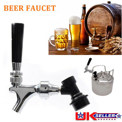 Brass Beer Tap Faucet Corny Cornelius Keg Quick Disconnect Ball Lock Homebrew UK • 23.99£