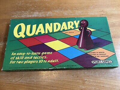 Quandary Board Game - Spears Games - Vintage 1970 Complete • 5£