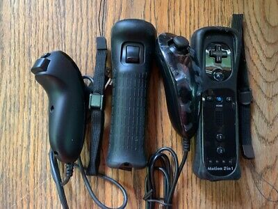 $ CDN24.04 • Buy 2X Remote Controllers & Nunchucks For Wii Silicone Case Wrist Straps Black Wii