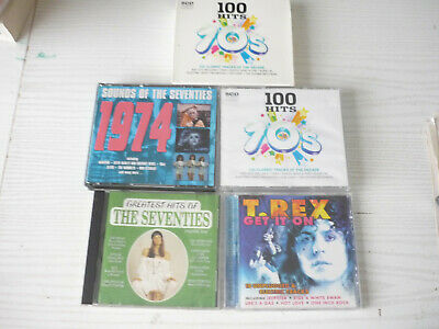TEN IN TOTAL  70s CDs  100 HITS OF THE 70s, T REX , SOUNDS OF THE 70s • 7.50£