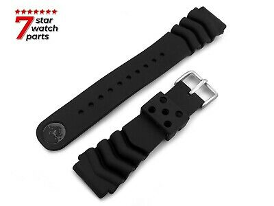 For Seiko Rubber Silicone Watch Strap Band Bracelet Buckle Clasp Black Pins • 14.90£