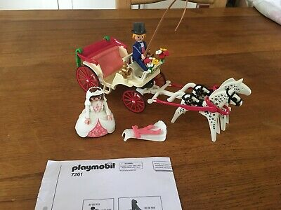 Playmobil 7261 Wedding Horse Carriage And Bride With Instructions • 4.99£