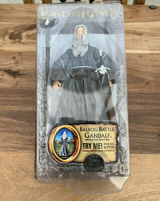 Lord Of The Rings Two Towers Talking Balrog Battle Gandalf Action Figure Toy Biz • 25£