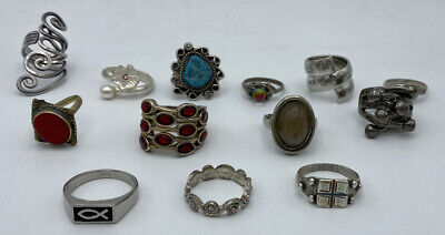$ CDN59.31 • Buy Mixed Lot Of 13 Vintage Costume Jewelry Rings