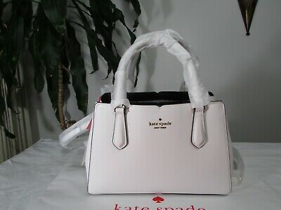 $ CDN188.13 • Buy NWT Kate Spade Leather Tippy Triple Compartment Satchel Handbag Optic White