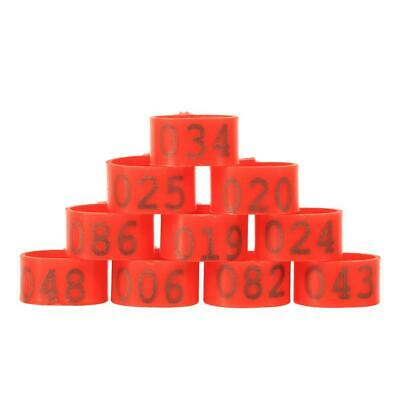 100X16mm Poultry Clip Leg Rings Numbered Plastic For Chicken Duck Hens • 3.50£