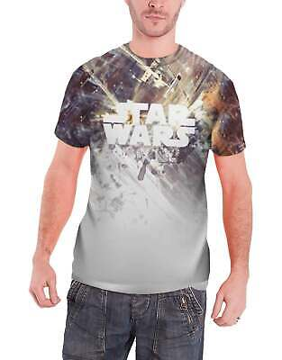 Star Wars T Shirt Tie Fighter Dog Fight Official All Over Print Sub Dye Slim Fit • 9.99£