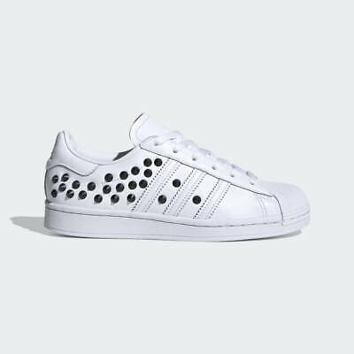 $ CDN229.97 • Buy Adidas Originals Women's Studed White Black Superstar Fashion Sneakers FV3344