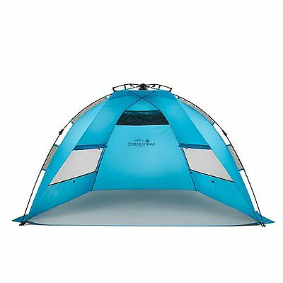 $69.99 • Buy Pacific Breeze Easy Setup Beach Tent Outdoor Canopy Sun Shelter - New