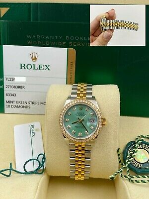 $ CDN19507.68 • Buy Rolex Datejust 279383 Diamond Dial Bezel 28mm Steel And 18K Gold Box Paper 2018