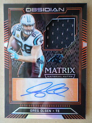 $3 • Buy 2019 Panini Obsidian GREG OLSEN AUTO AUTOGRAPH JERSEY PATCH Card Panthers 37/50