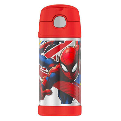 AU29 • Buy Thermos 355ml Funtainer Insulated Stainless Steel Water/Drink Bottle Spiderman