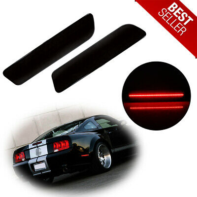 $24.99 • Buy Direct For 2005-09 Ford Mustang Rear Bumper Smoked Side Fender Marker LED Lights