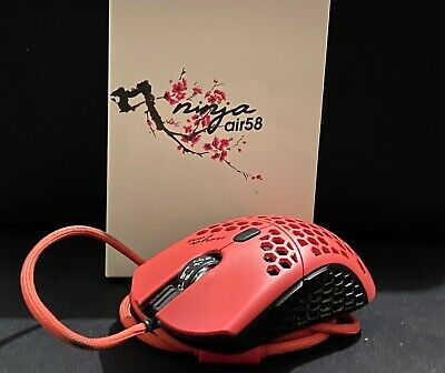 $200 • Buy Finalmouse Air58 Ninja Gaming Mouse - Cherry Blossom Red