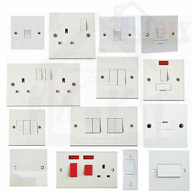 1 & 2 Gang Electric Plug Sockets And Light Switches Bulk Buy & Save 1 & 2 Way  • 13.95£