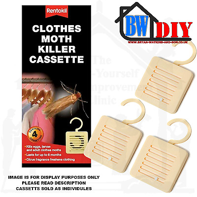 Rentokil Moth Killer Hanging Cassette Units Non Scented Insecticide Various  • 3.50£
