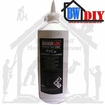 SOLVENT CLEANER PVC UPVC PVCu WINDOWS DOORS & CONSERVATORY FASCIAS CLEANING 1ltr • 8.95£
