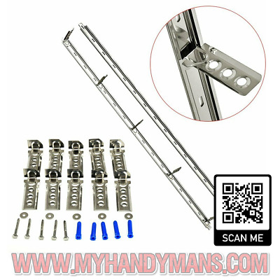Universal Wall Starter Kit Stainless Steel Wall Ties And Fixings Extension Walls • 10.95£