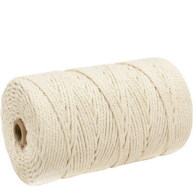 AU16.67 • Buy 1-3.5mm Macrame Rope Cotton Twisted Cord Artisan Hand Craft 100-200m Hot Sold