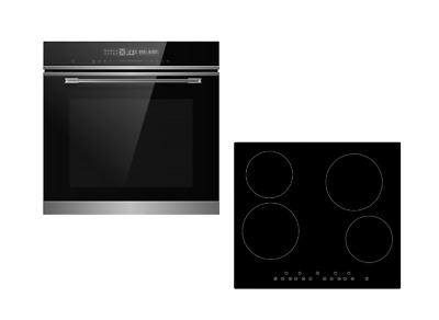 Cookology 72L Built-In Stainless Steel Oven & 60cm Ceramic Hob Pack • 389.99£