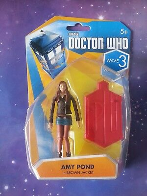 Doctor Who Amy Pond Brown Jacket 11th Dr Companion 3.75  Discontinued Figure • 7.99£